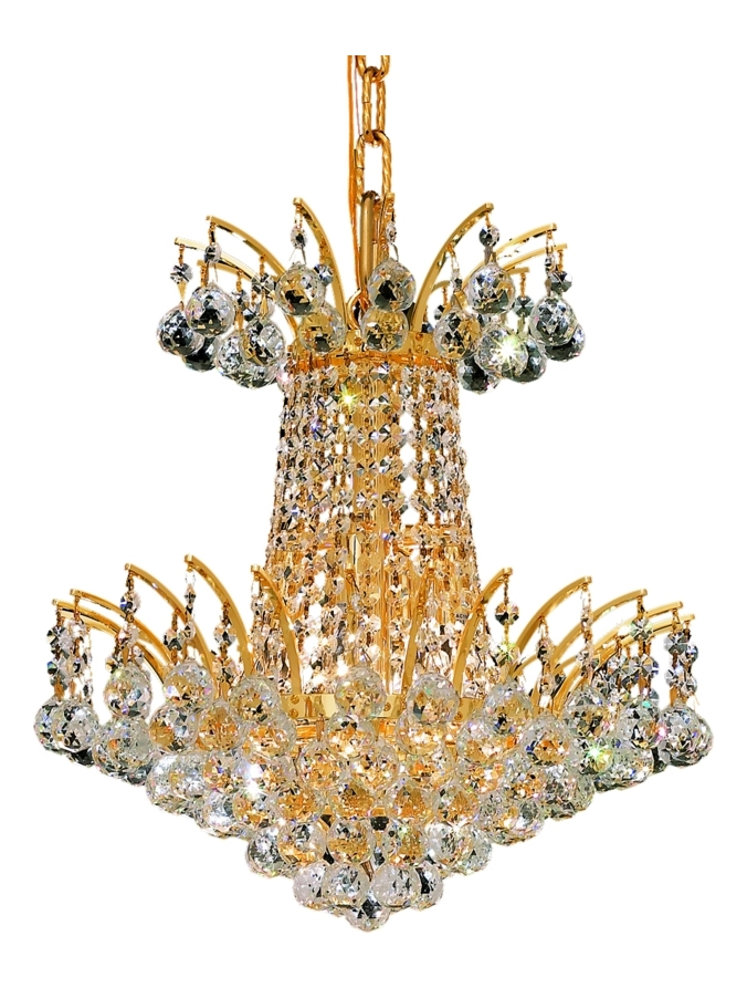 Elegant Lighting Royal Cut Clear Crystal Victoria 4 Light