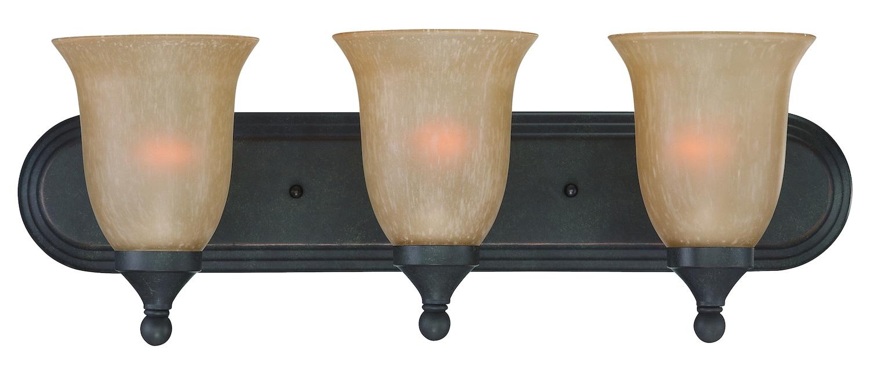 Oil Rubbed Bronze Bathroom Vanity Ceiling Lights: Craftmade Three Light Oil Rubbed Bronze Tea Stained Glass