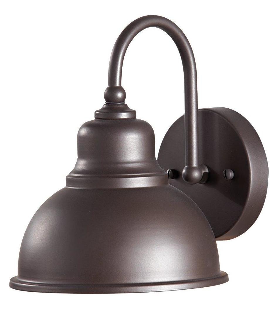 Outdoor Wall Lights Metal: Feiss One Light Oil Rubbed Bronze Metal Shade Outdoor Wall