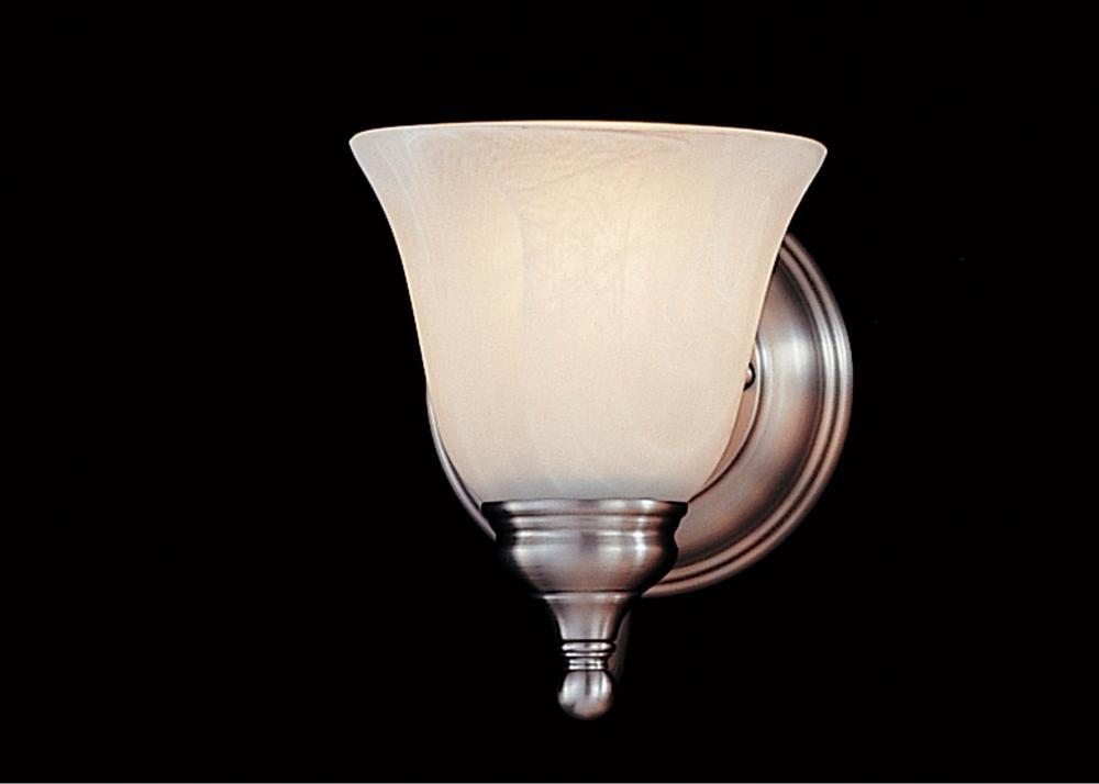 Feiss One Light Pewter White Alabaster Glass Bathroom