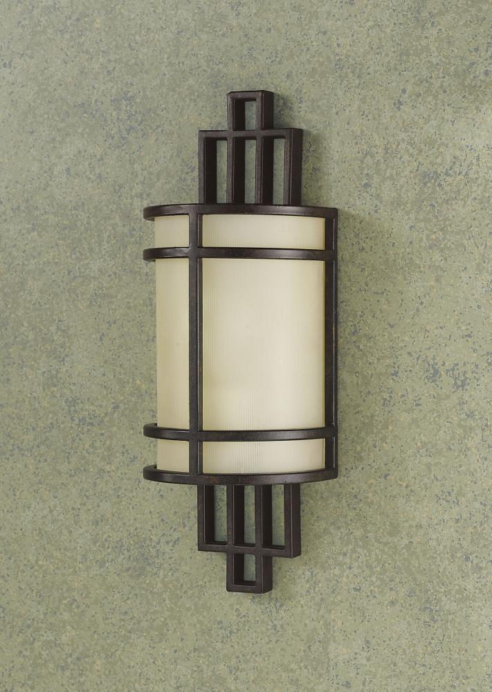Ribbed Glass Wall Lights : Feiss One Light Grecian Bronze Amber Ribbed Glass Wall Light Grecian Bronze WB1283GBZ From ...