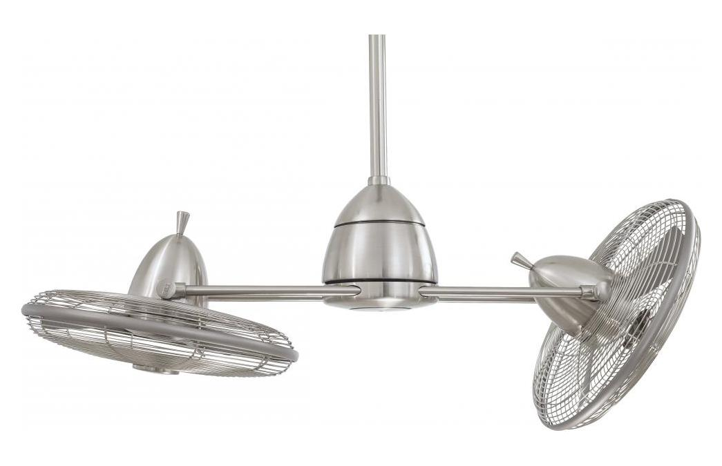 Minka Aire One Light Brushed Nickel Wet Dual Motor Ceiling