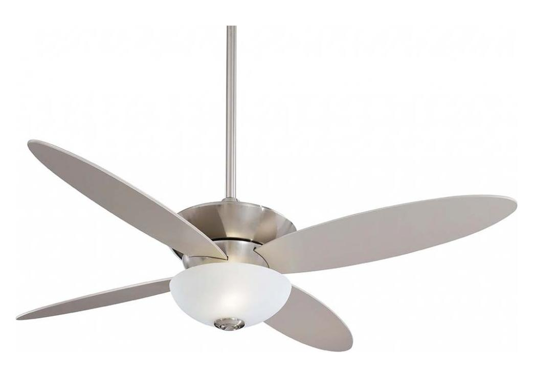 Minka-Aire Brushed Nickel 52In. Ceiling Fan From The Zen Collection