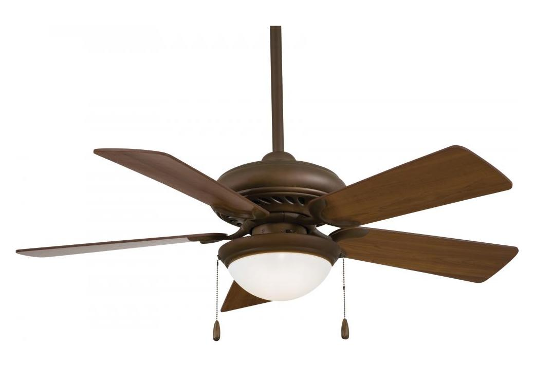 Minka-Aire Oil Rubbed Bronze 5 Blade Ceiling Fan Light And Blades Included