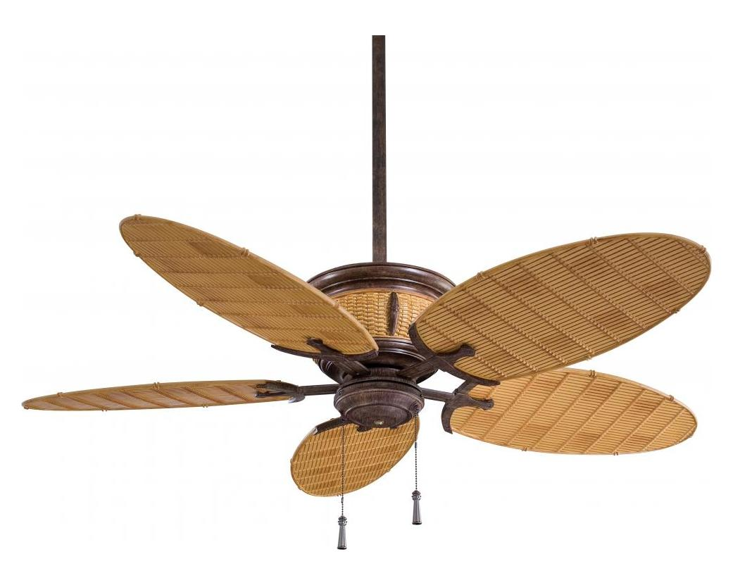 Minka Aire One Light Vintage Rust And Bamboo Outdoor Fan