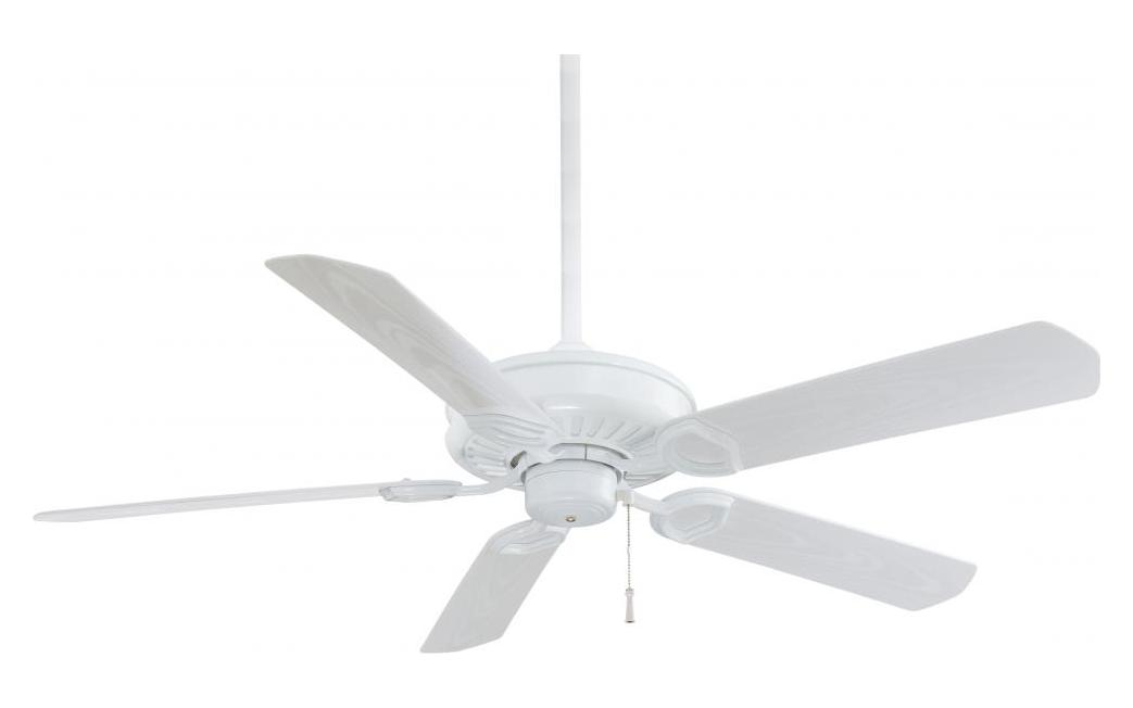 Minka Aire White 5 Blade Indoor Outdoor Energy Star Ceiling Fan Blades Included White