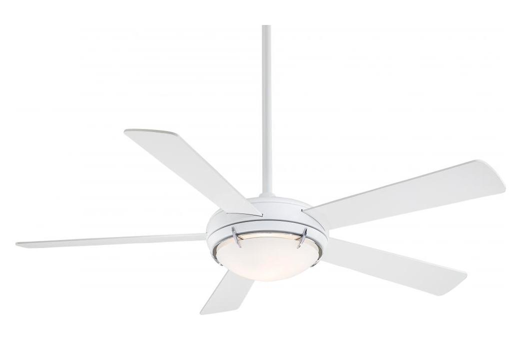 Minka-Aire White 5 Blade Como 54In. Ceiling Fan - Light, Wall Control And Blades Included