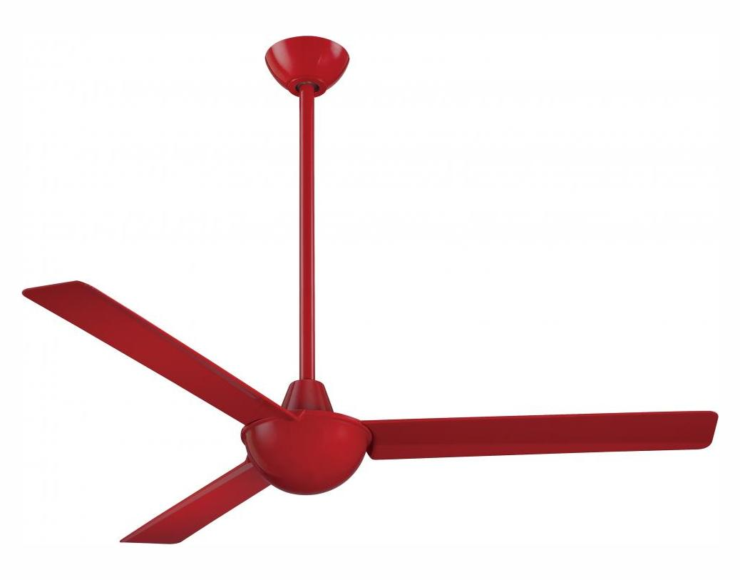 Minka Aire Red 52in 3 Blade Indoor Ceiling Fan With