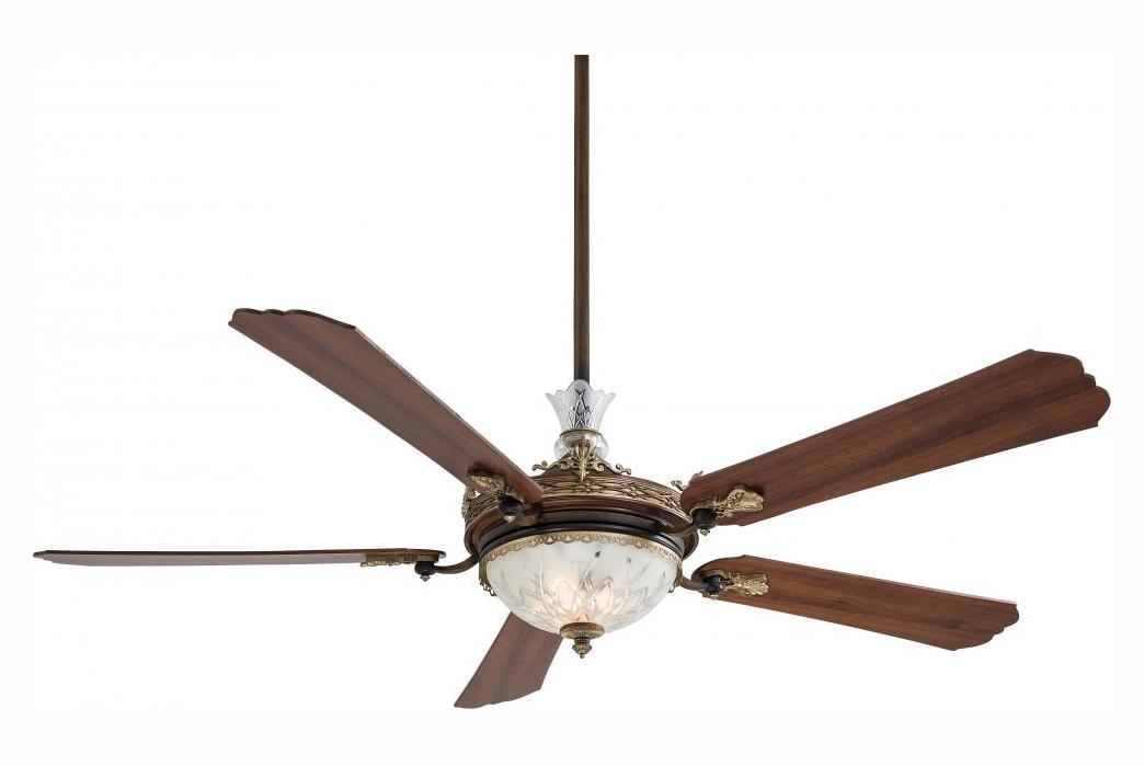 Minka Aire Seven Light Belcaro Walnut Ceiling Fan Belcaro