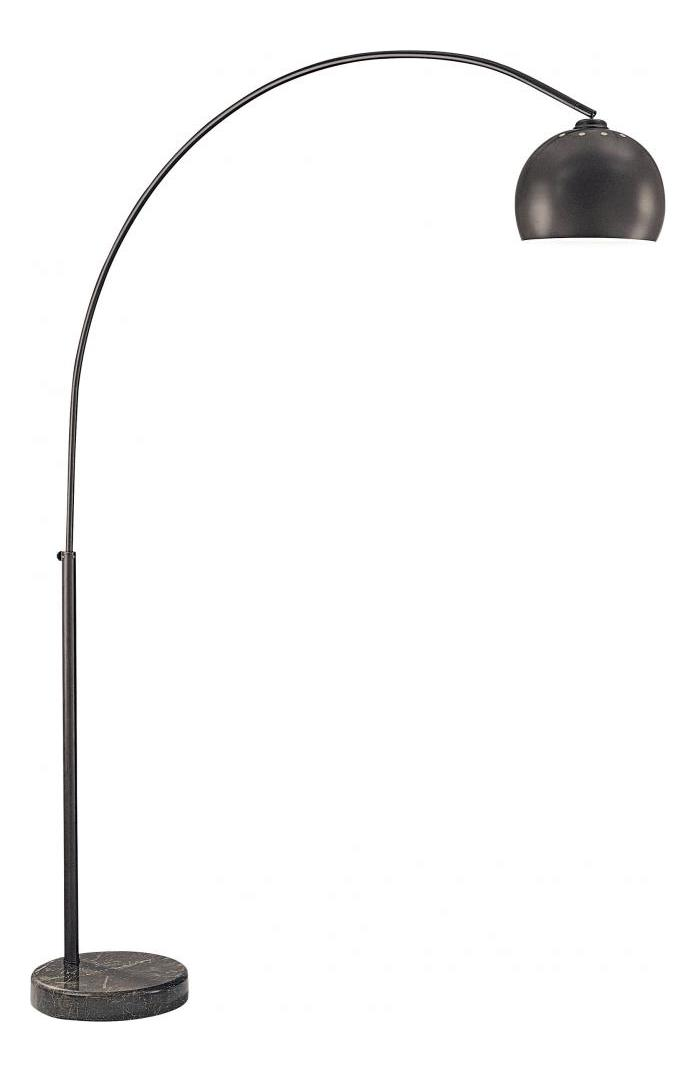 Minka George Kovacs One Light Shade With Black Marble Base Floor