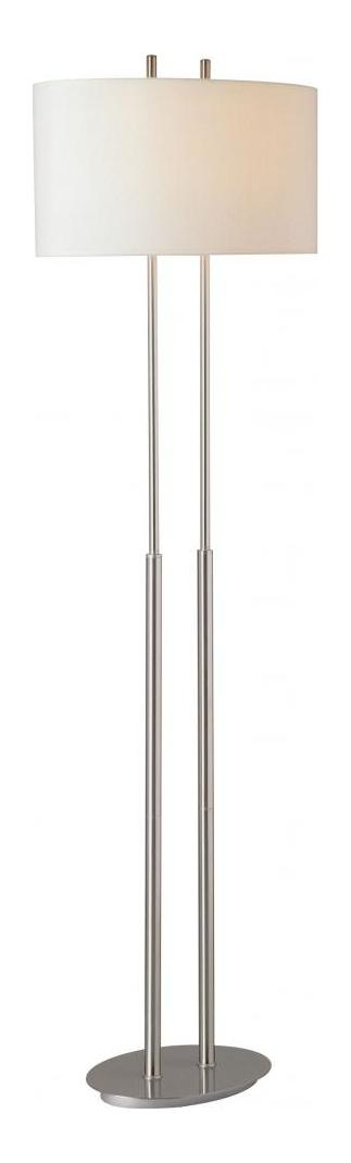 Minka George Kovacs Brushed Nickel 2 Light Floor Lamp from the Decorative Portables Collection