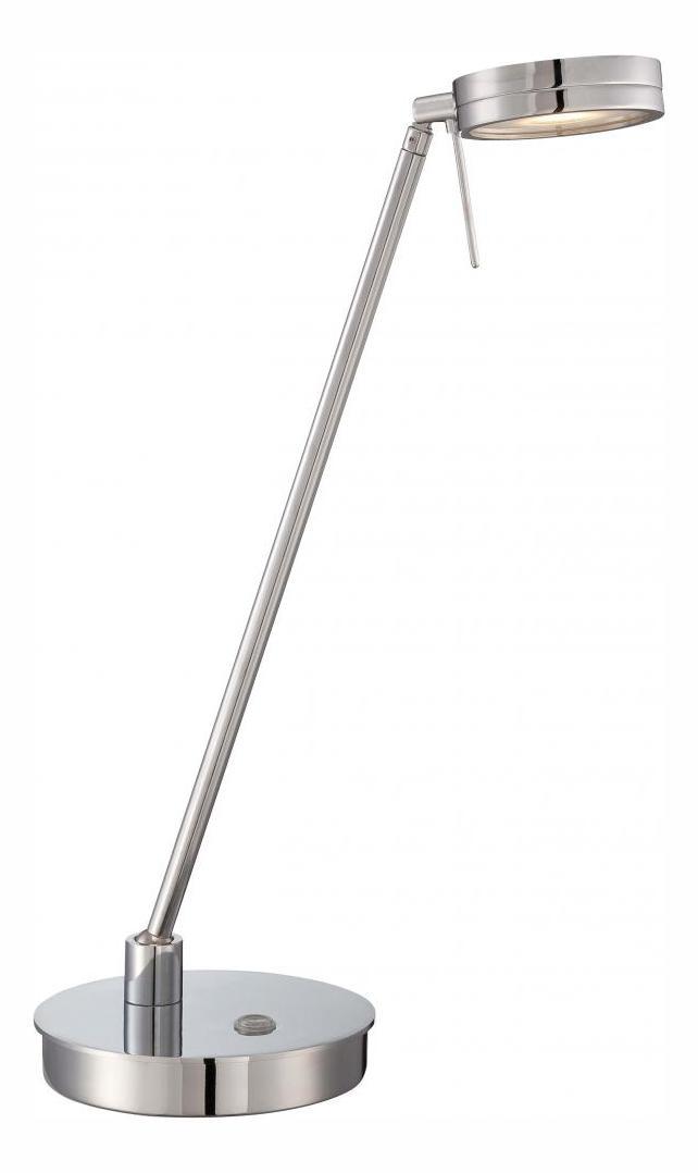 Minka George Kovacs One Light Chrome Metal Shade Table Lamp Chrome P4306 077
