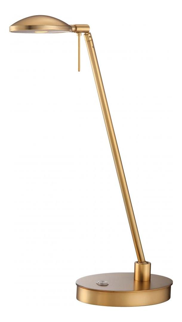Minka George Kovacs Honey Gold 1 Light Led Swing Arm Table