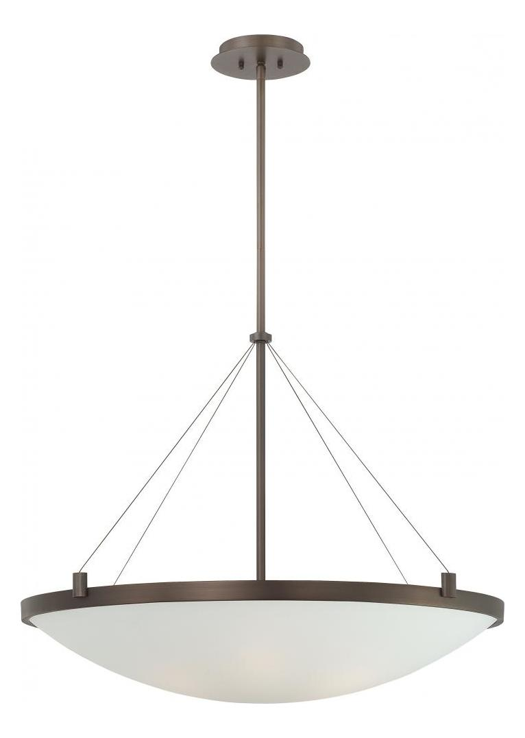 Minka George Kovacs Copper Bronze Patina 6 Light Bowl Shaped Pendant from the Suspended Collection