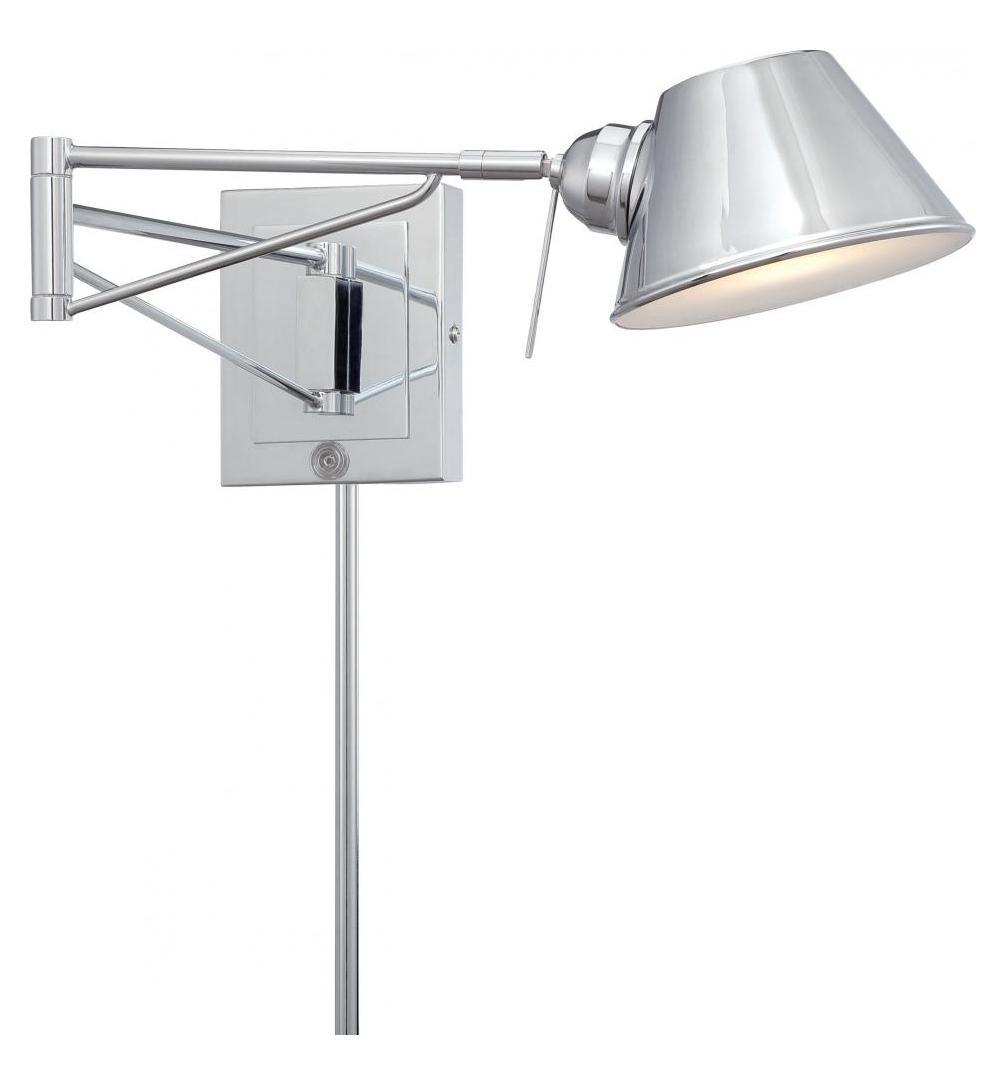 Height Of Wall Lamps : Minka George Kovacs Chrome 1 Light 5.75in. Height Plug In Wall Sconce Chrome P611-077 From Task ...