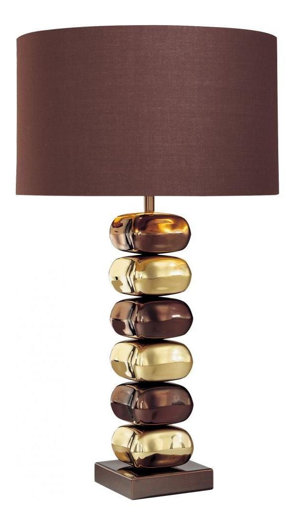 Minka George Kovacs 1 Light Chocolate Chrome Brown Fabric