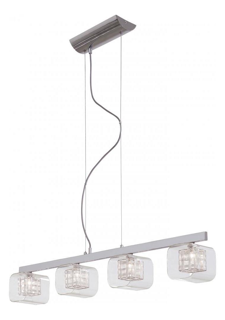Minka George Kovacs Chrome 4 Light 1 Tier Linear Chandelier From The Jewel Bo