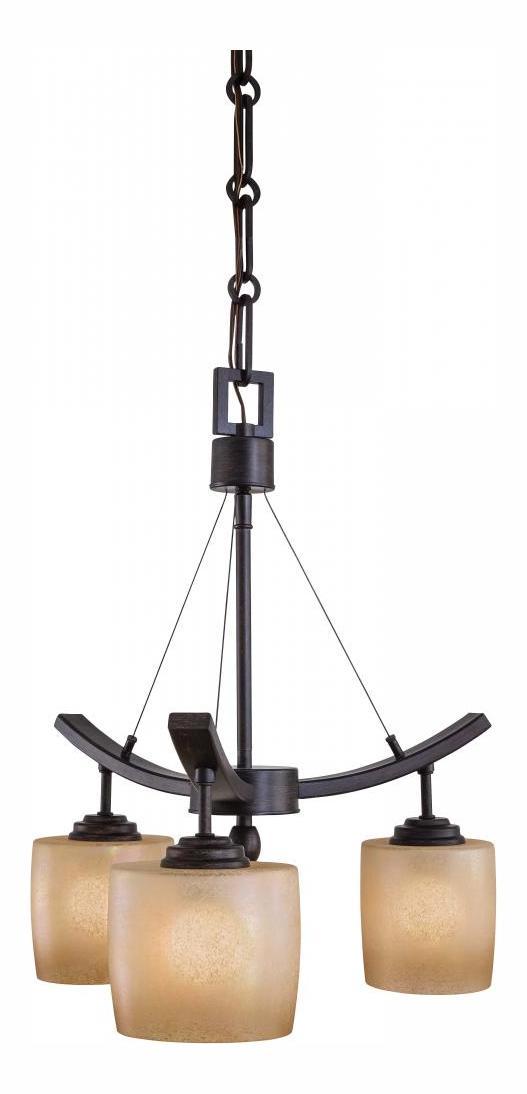 Minka Lavery Iron Oxide 3 Light 1 Tier Mini Suspension