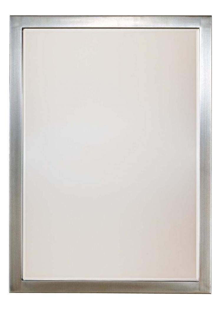 Minka Lavery Brushed Nickel Rectangular Mirror From The