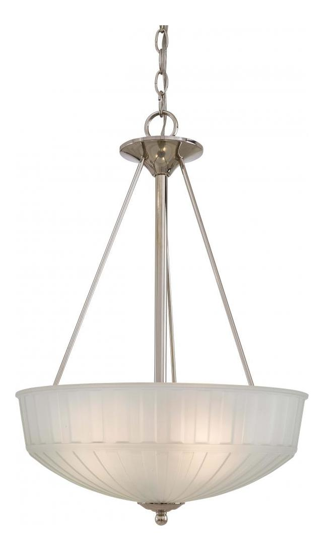 Minka-Lavery Polished Nickel 3 Light Indoor Bowl Shaped Pendant From The 1730 Collection