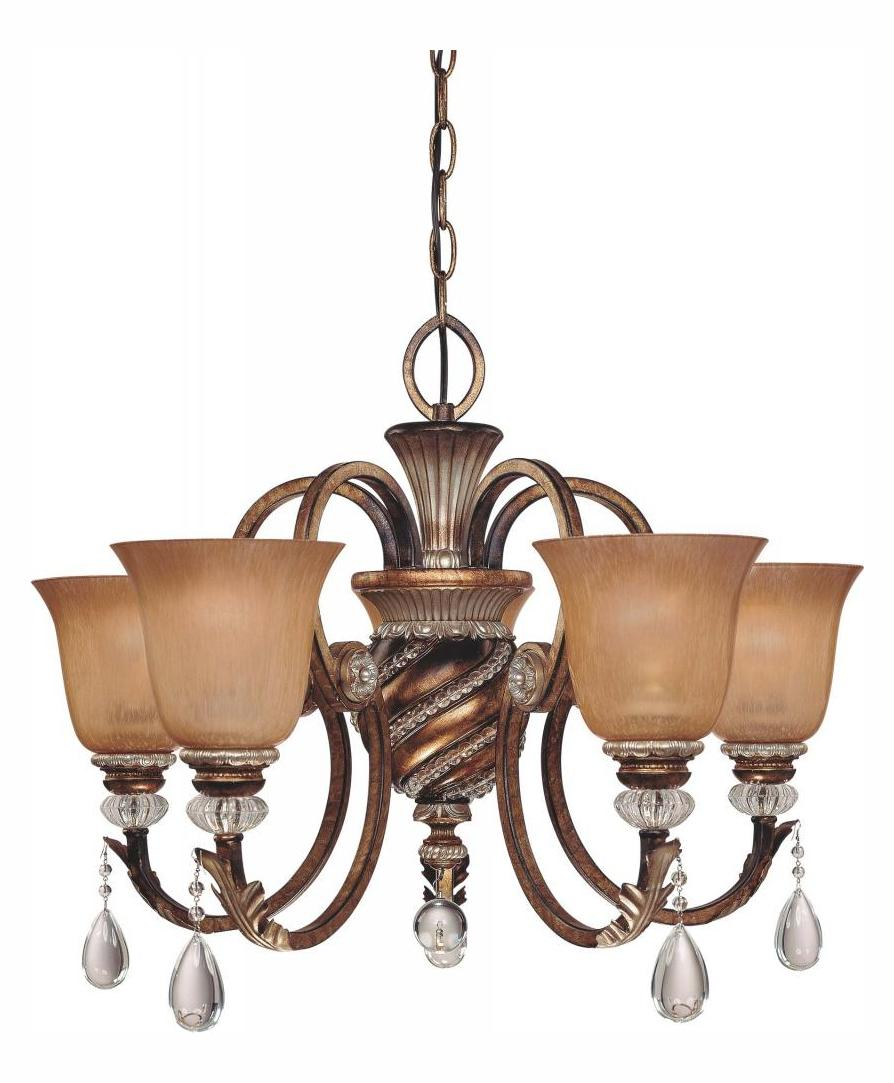 Minka-Lavery 5 Light Aston Court Bronze Up Chandelier