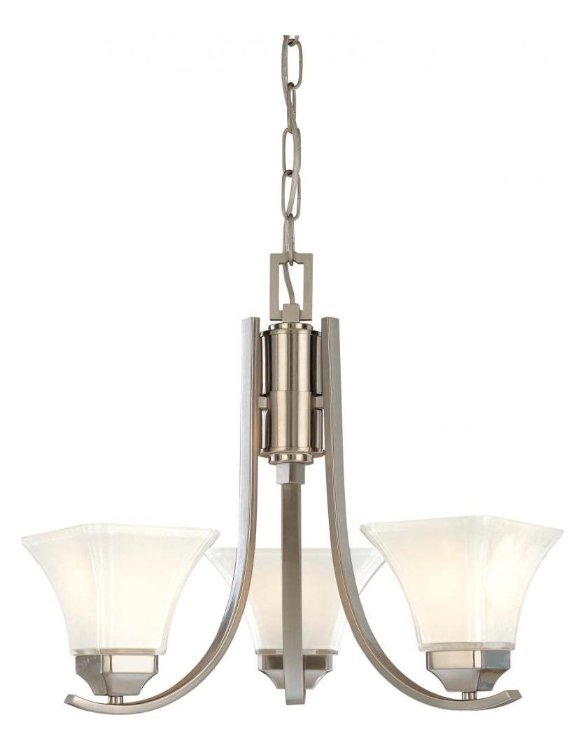 Minka-Lavery Brushed Nickel 3 Light 1 Tier Mini Chandelier From The Agilis Collection