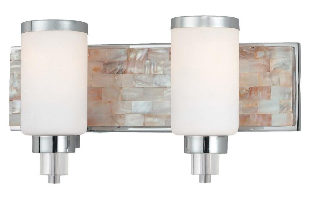 Minka-Lavery Chrome With Natural Shell 2 Light 17.25In. Width Bathroom Vanity Light