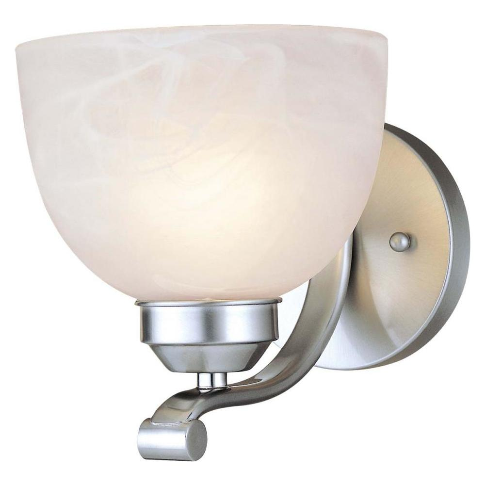 Minka-Lavery Brushed Nickel 1 Light 6.5In. Width Wall Sconce From The Paradox Collection