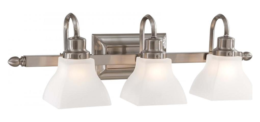 Minka-Lavery Brushed Nickel 3 Light Bathroom Vanity Light From The Mission Ridge Collection
