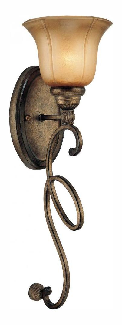 Minka-Lavery Patina Iron 1 Light Wall Sconce From The La Cecillia Collection