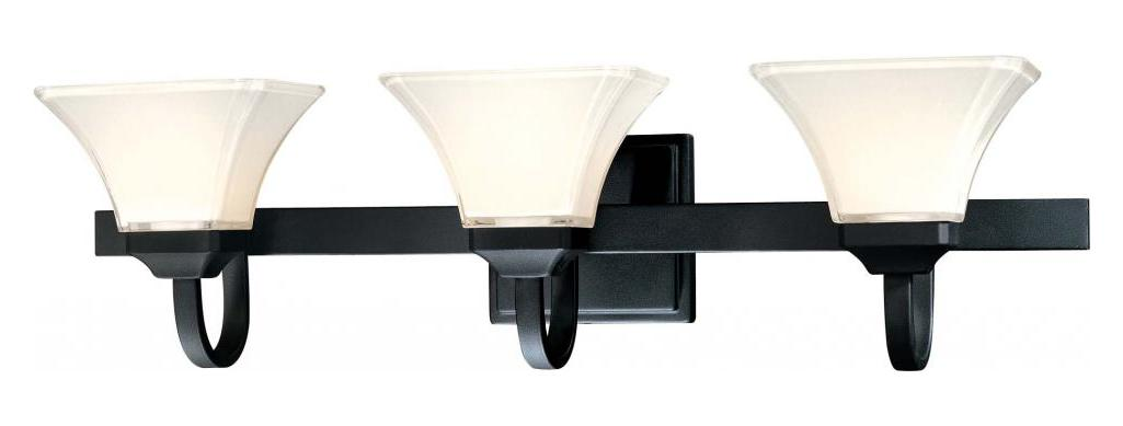 Minka-Lavery Black 3 Light Bathroom Vanity Light From The Transitional Bath Art Collection