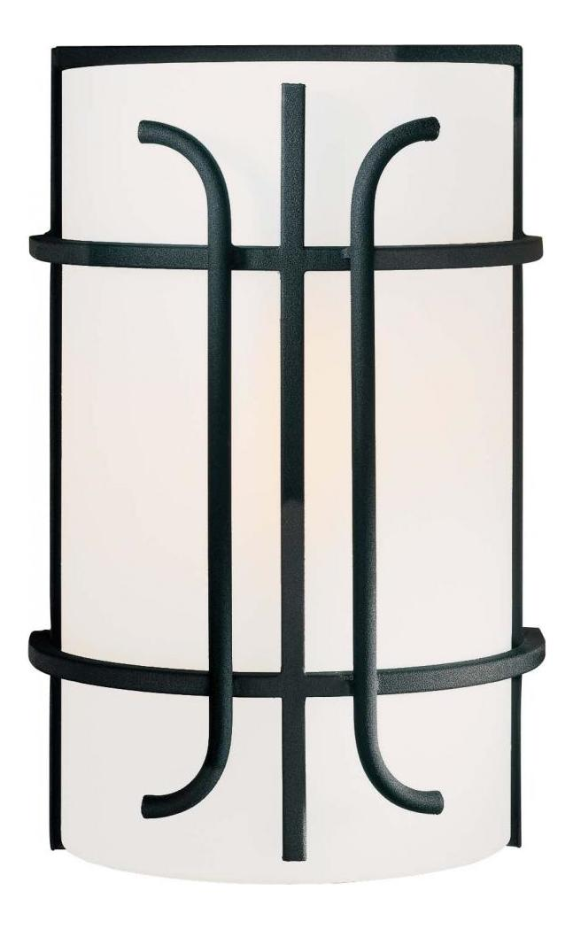 Minka-Lavery Black 1 Light Flush Mount Wall Sconce From The Iconic Collection