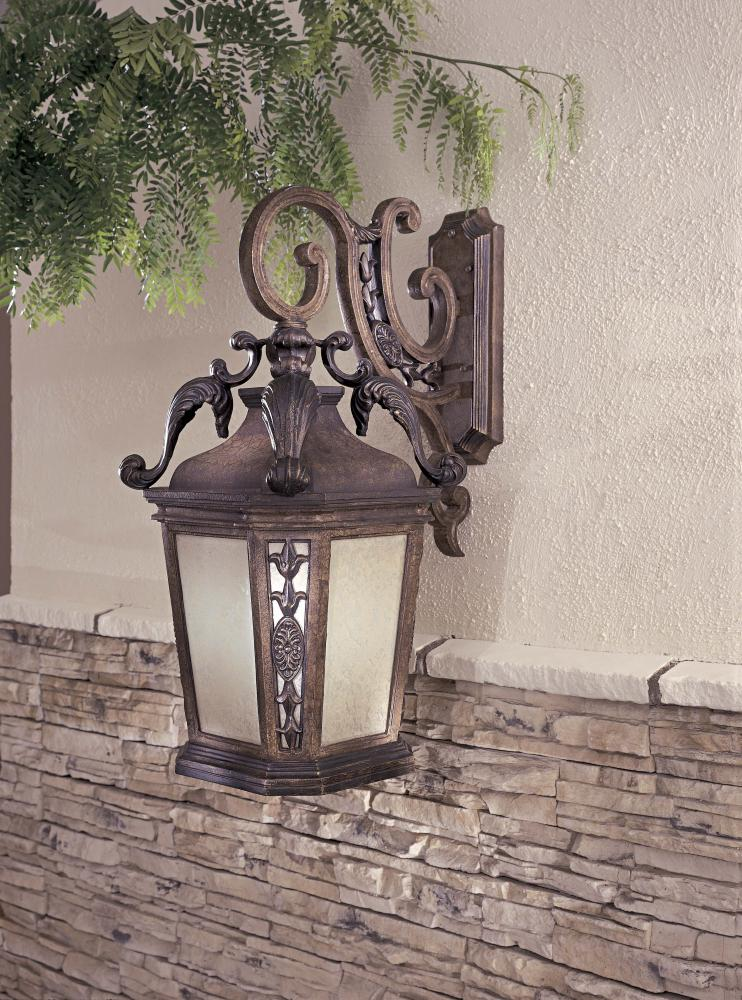 Minka-Lavery One Light Gold Wall Lantern