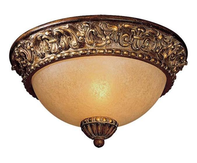 Minka-Lavery Belcaro Walnut 1 Light Flush Mount Ceiling Fixture From The Belcaro Collection