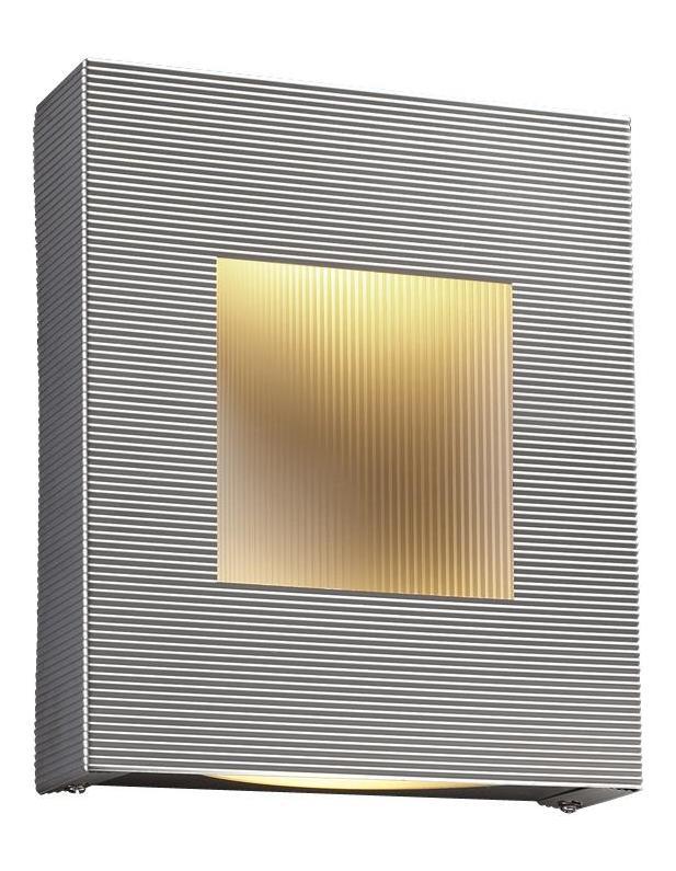 PLC Lighting 2 Light Sconce Malta Collection Aluminum 6412 AL From Malta Collection