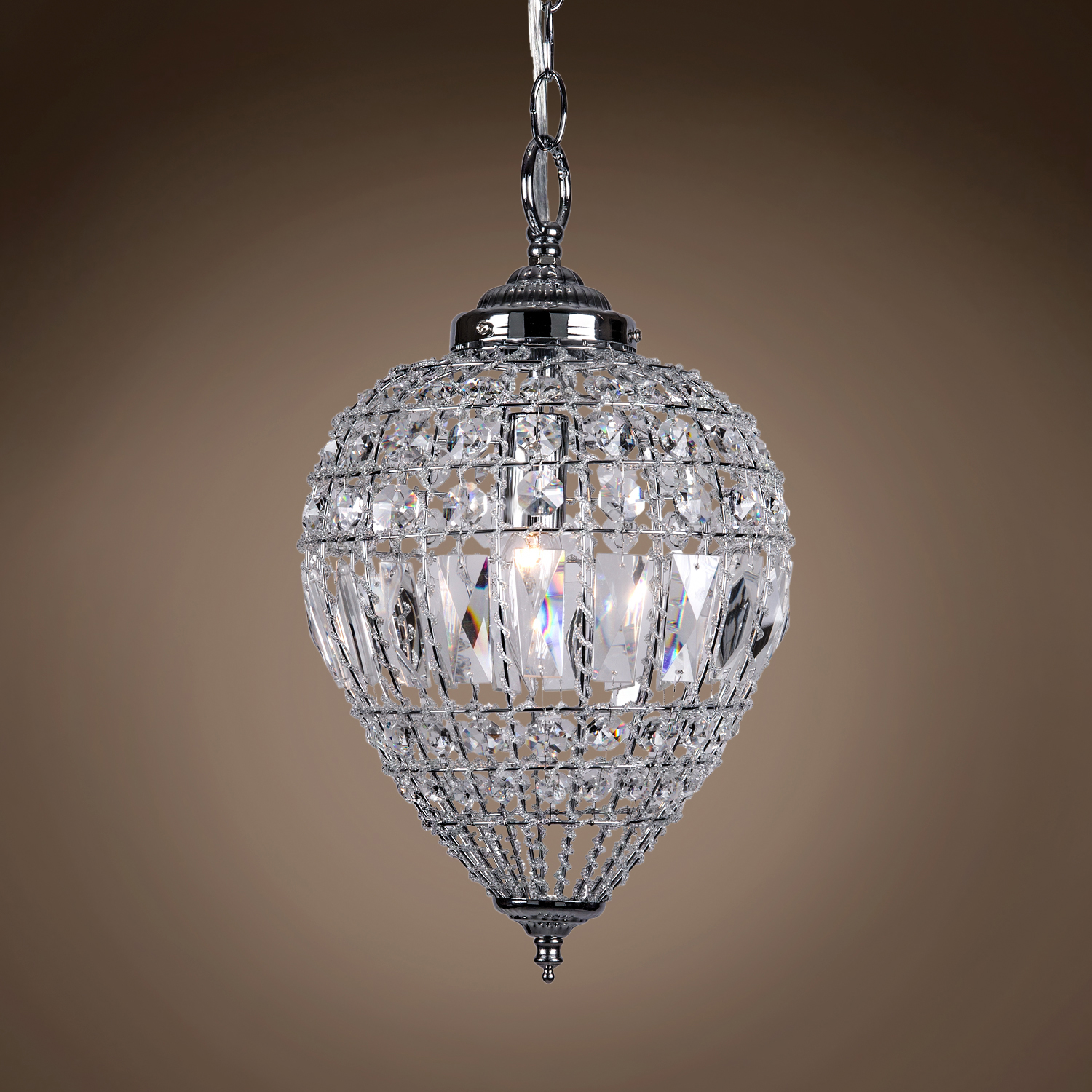 Joshua Marshal 7022 001 1 Light Beaded Crystal Mini