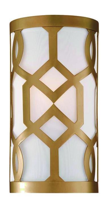 Crystorama Aged Brass Jennings 1 Light Wall Sconce Aged ... on Aged Brass Wall Sconce id=34426