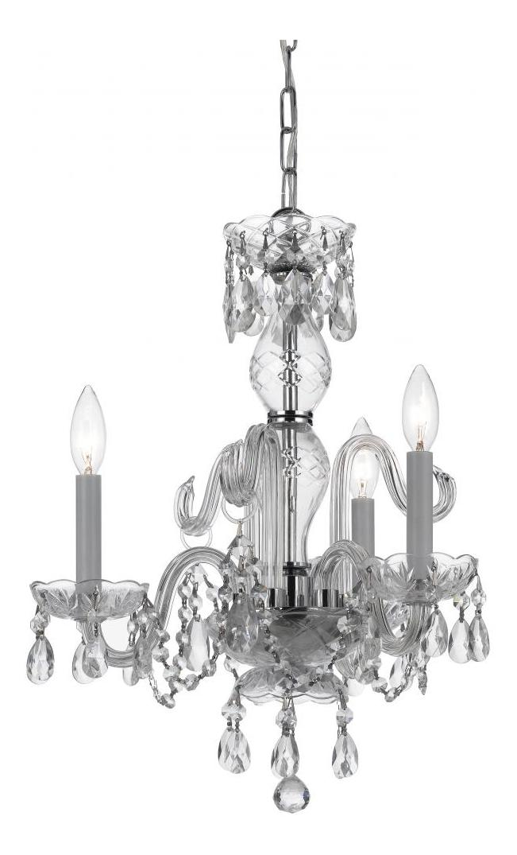 crystorama three light polished chrome up mini chandelier