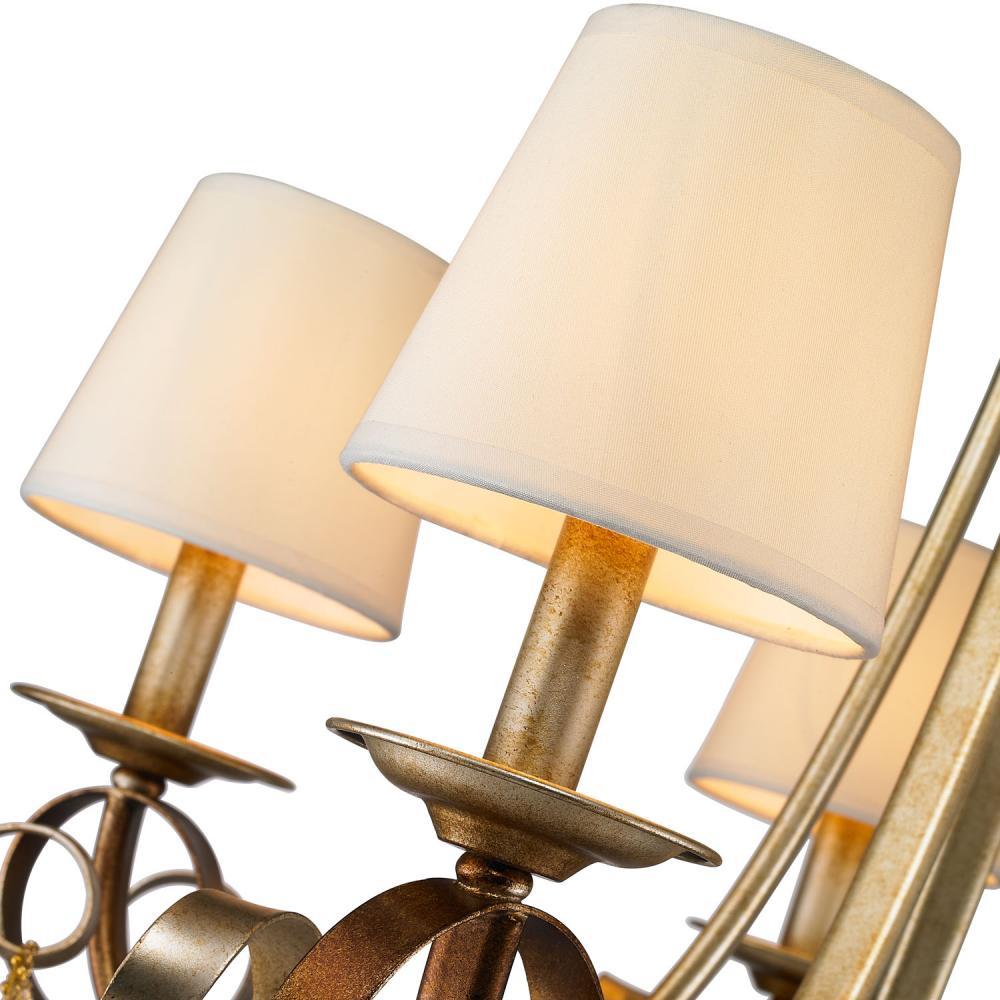 Golden Lighting Gr Chandelier In Golden Radiance