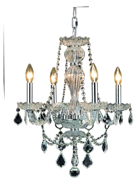 Elegant Lighting Dining Room Chandelier Chrome Chrome ...