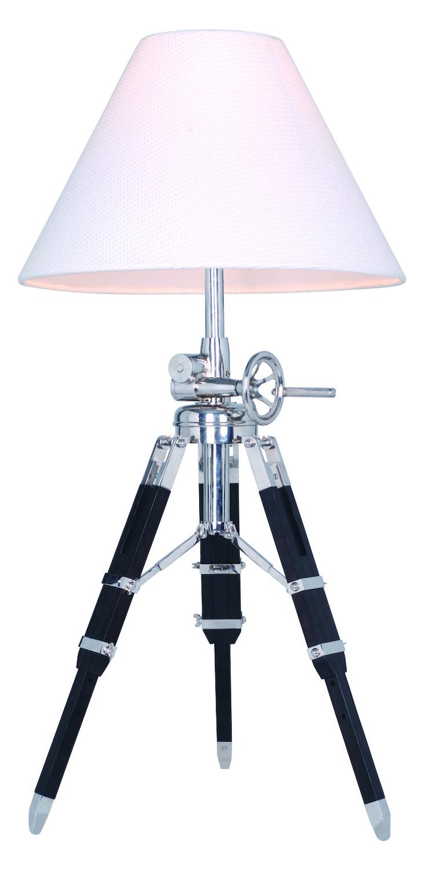 Urban Classic Ansel Tripod Floor Lamp Chrome Black