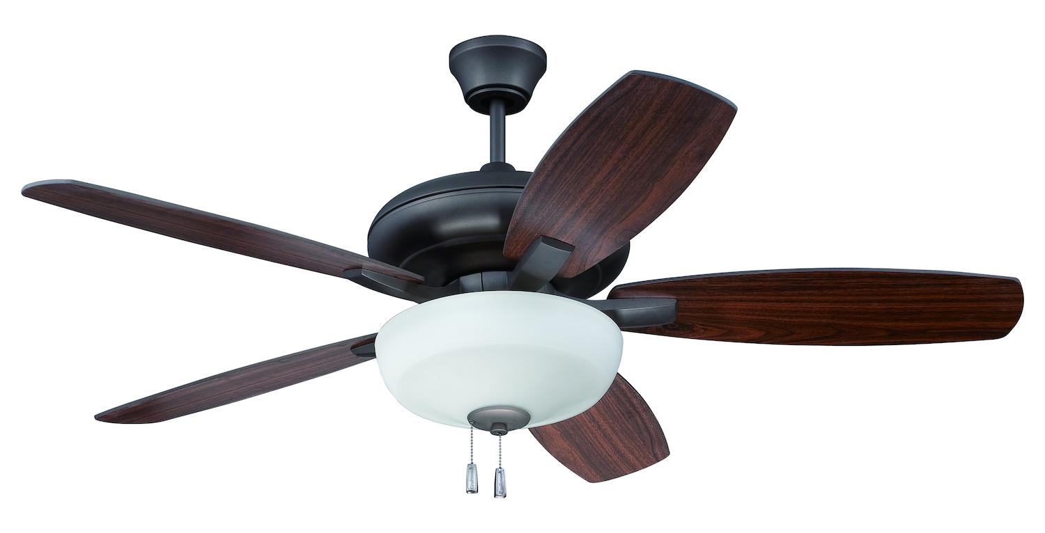 craftmade espresso ceiling fan with blades and light kit espresso. Black Bedroom Furniture Sets. Home Design Ideas