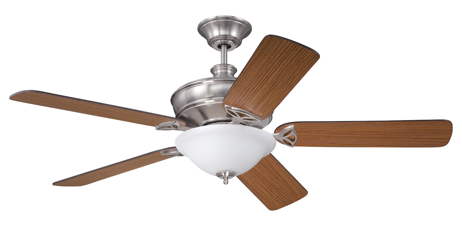 Craftmade Polished Nickel Finish Ceiling Fan With Blades