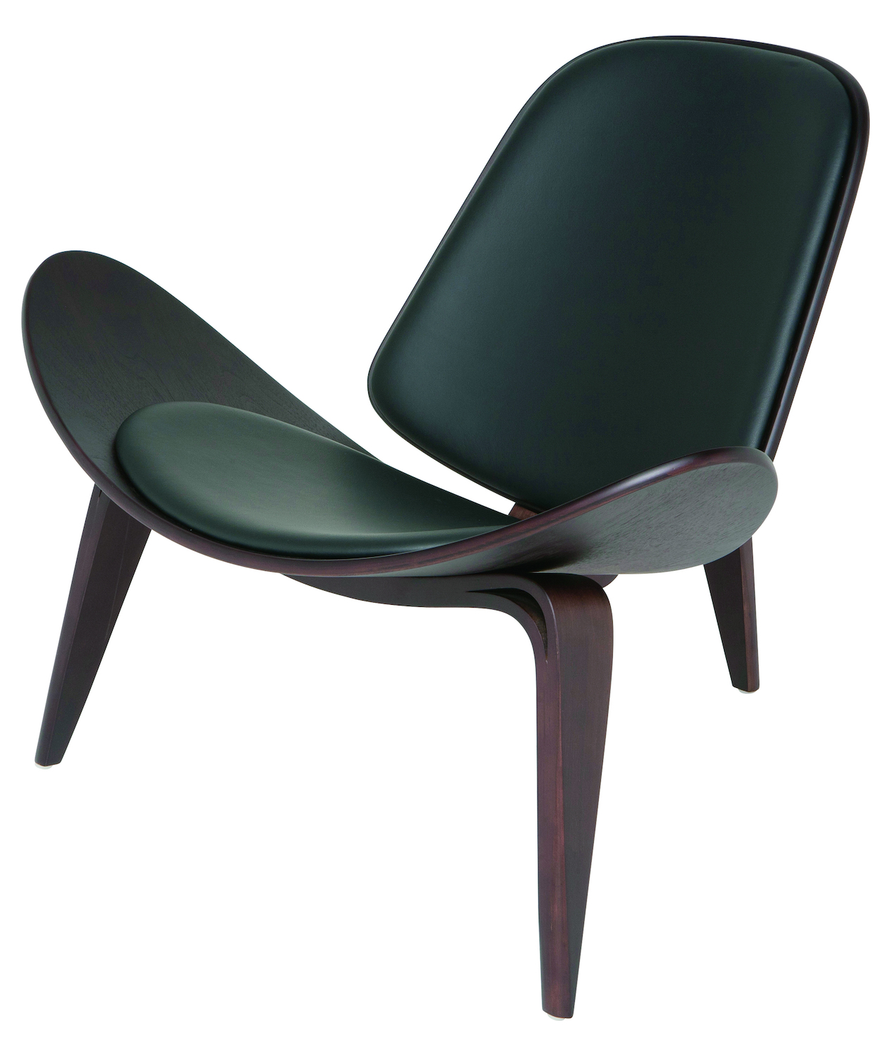 Nuevo Black Dark American Walnut Artemis Lounge Chair Hgem359