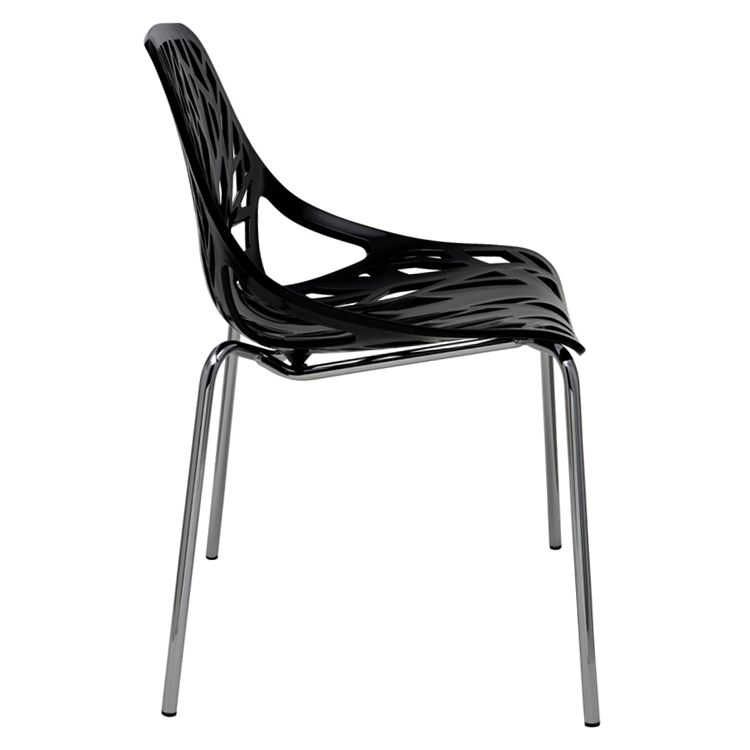 Nuevo Brie Dining Chair Black: Nuevo Black Fauna Dining Chair HGZX211