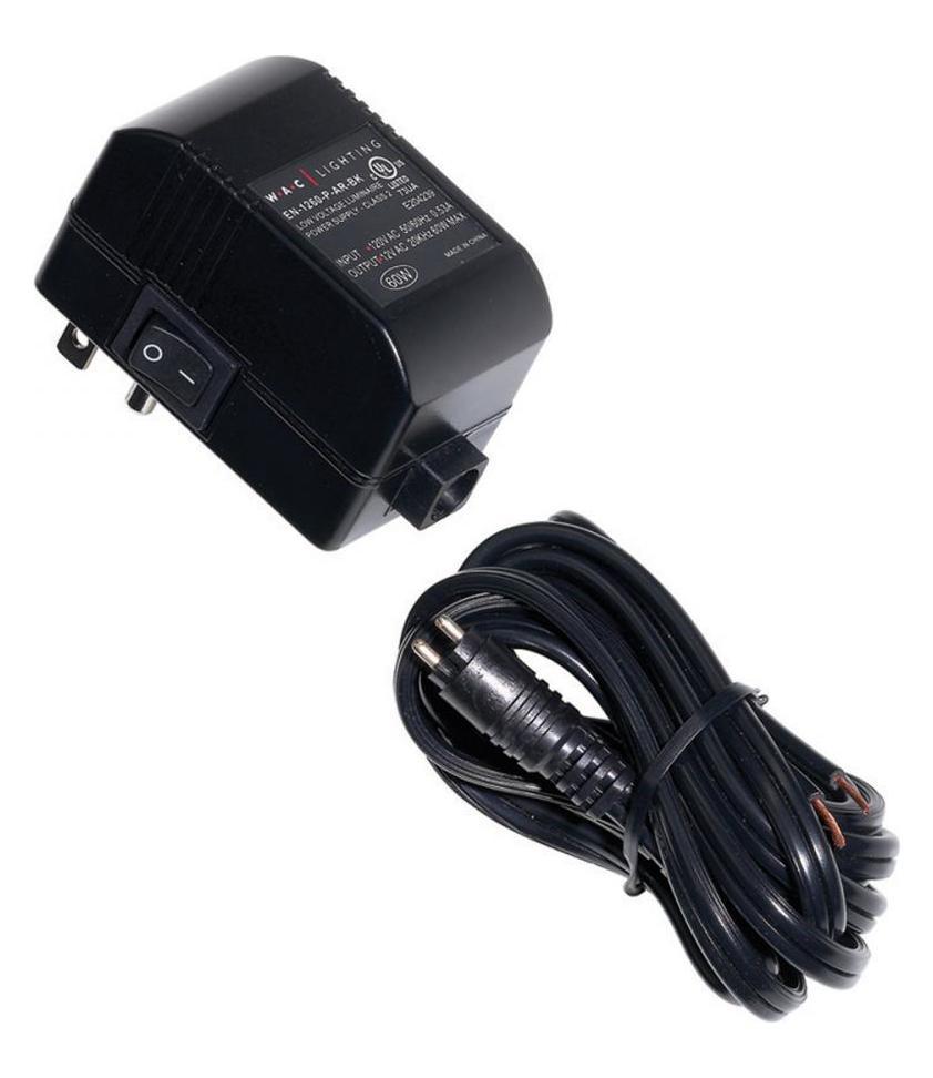 Wac Us Electronic Transformer 120v 12v 60w Max Plug In