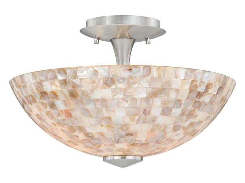 Vaxcel international milano 13in ceiling light mosaic for Shell ceiling light fixtures