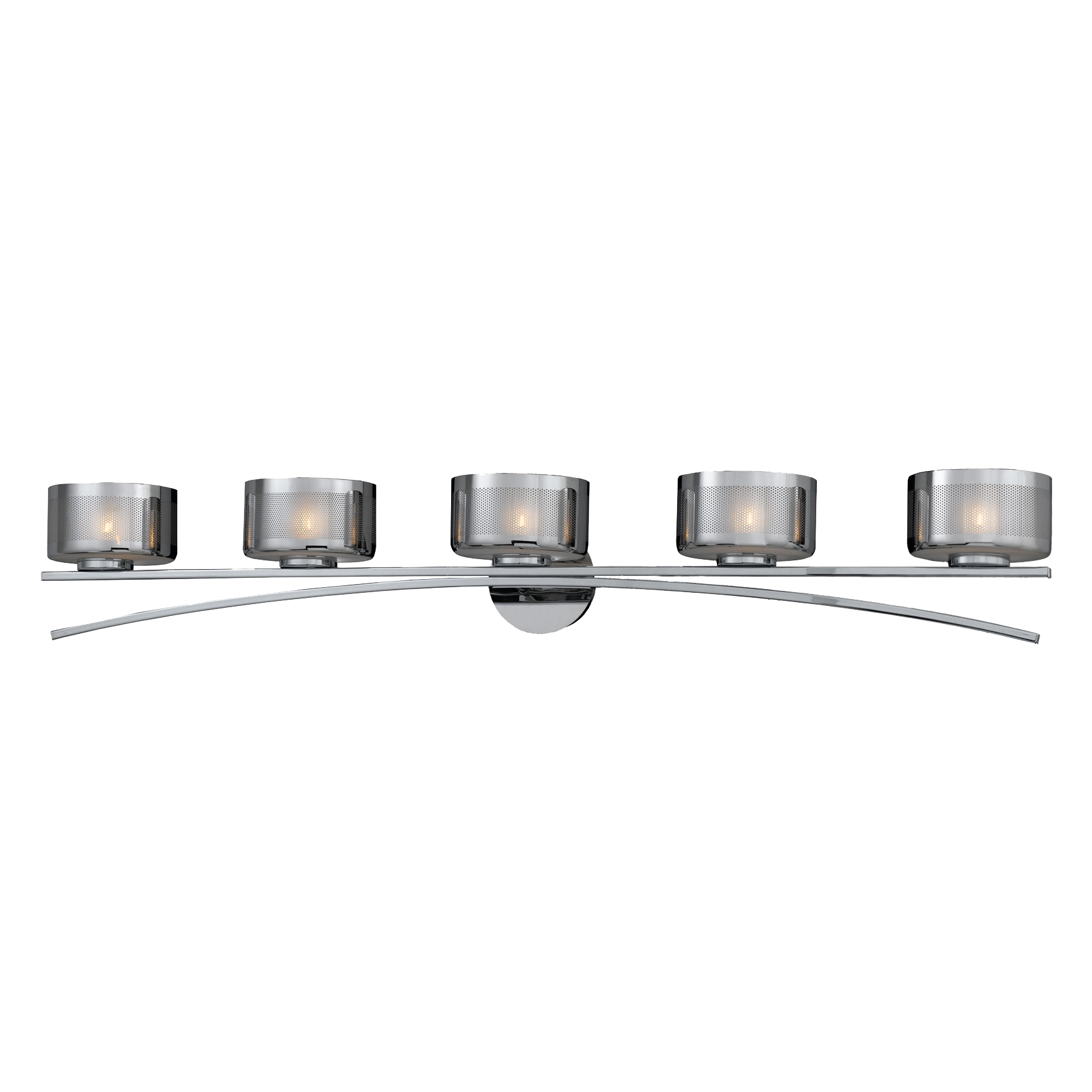 Bathroom Vanity Lights Chrome Finish : Lumenno Int Bodorlo Collection 5 Light Xenon Bath Vanity In A Chrome Finish Chrome Plated Finish ...