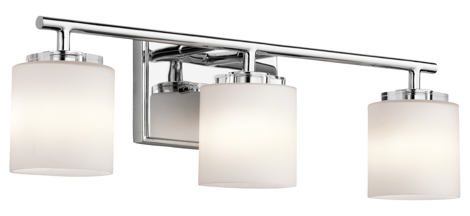 "Chrome Bath Lighting Fixtures: Kichler Kichler 45502Ch Chrome O Hara 22"" Wide 3-Bulb"