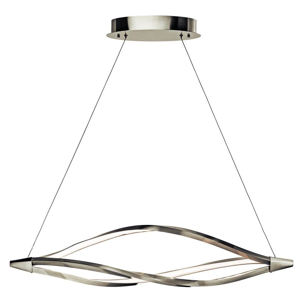 Elan Brushed Nickel Meridian Linear Chandelier Brushed